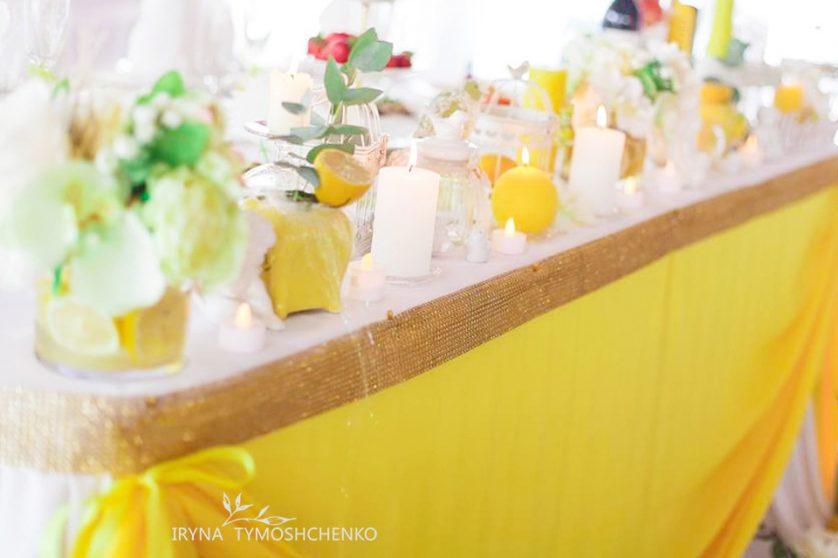 Декор весілля в жовтому кольорі